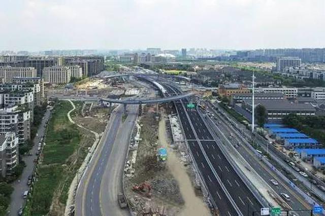 北横通道上跨双铁桥梁起步平移 将缓解南北高架拥堵