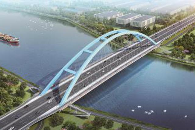 新建浦星公路桥年底主桥主跨钢结构贯通 明年11月竣工