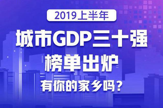 2019上半年城市GDP三十强榜单出炉 上海位列第一