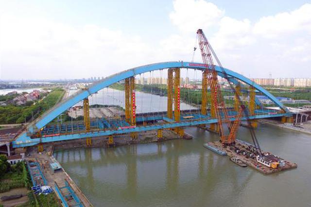 新建浦星公路桥主桥合龙 为黄浦江进入大治河首座桥梁