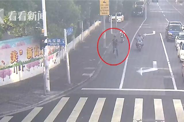 辅警下班偶遇偷车嫌疑人 骑车跟随半小时将其擒获