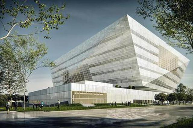 上图东馆主体钢结构封顶 预计2021年试运营