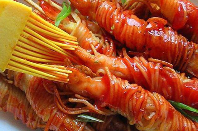 私家茄汁金丝虾串 美味炸炸炸