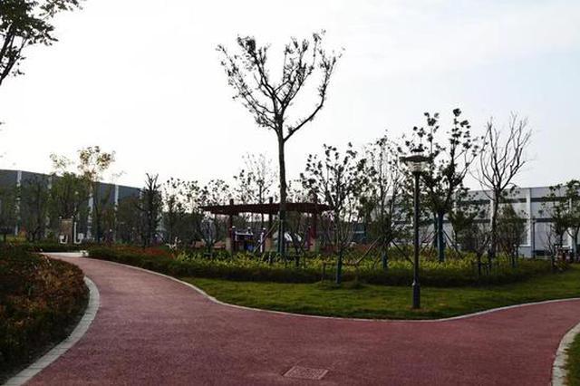 闵行再添一处2万㎡绿地 内含篮球场、健身区、休闲广场