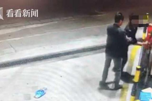 醉酒男子加油站抢夺油枪 女员工勇敢制止被殴打
