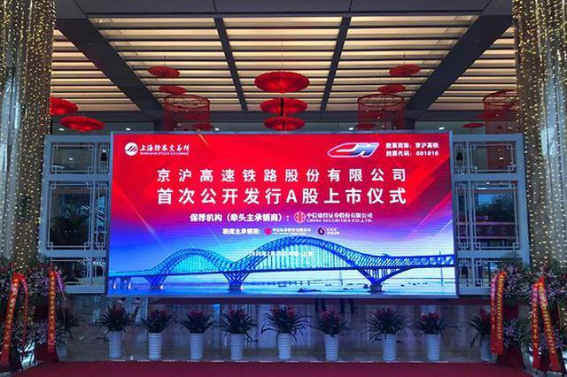 中国高铁第一股京沪高铁挂牌上市:涨幅超43%,临时停牌