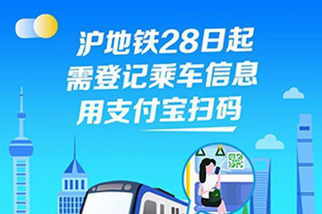 上海地铁28日开通专属健康码 操作指南一览