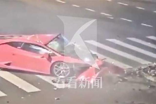 兰博基尼失控撞上高架立柱 司机排除酒驾毒驾