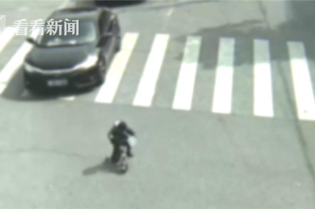 4岁女孩独自骑车横穿马路 奶奶:这是第三次走失