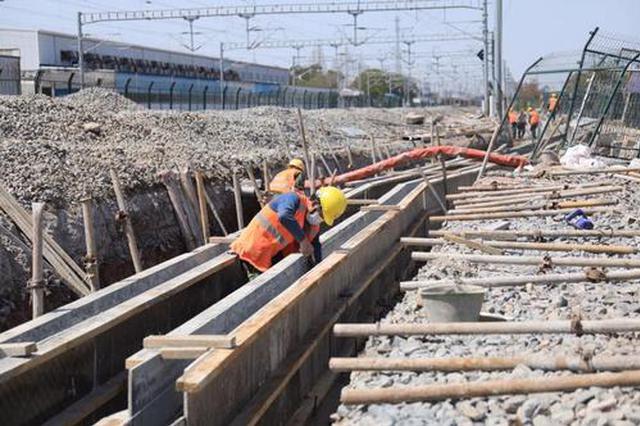 沪通铁路各标段陆续恢复生产 一期工程6月底具通车条件