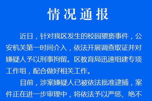 青浦实验幼儿园一男幼师被曝猥亵女童 官方通报:已批捕