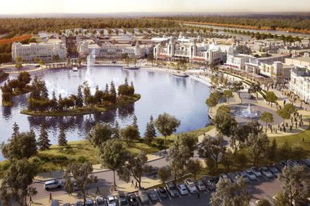 上海奕欧来购物村迪士尼小镇开放 购物场所现大客流
