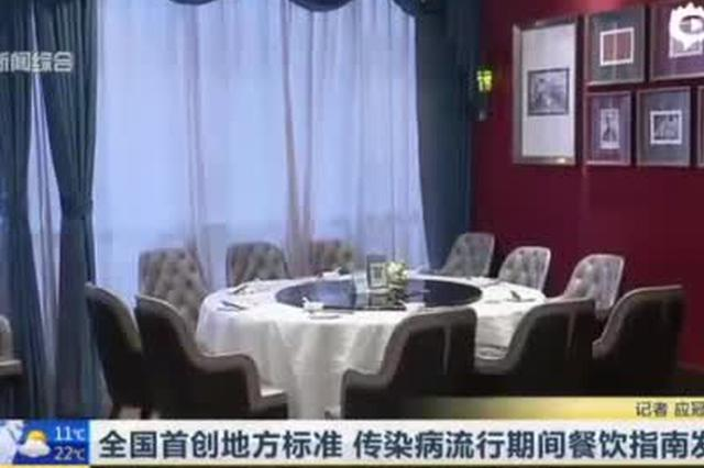 上海传染病流行期间餐饮指南发布 全国首创地方标准