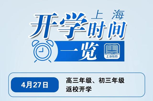上海市返校开学时间及部分教育考试安排确定 一图读懂