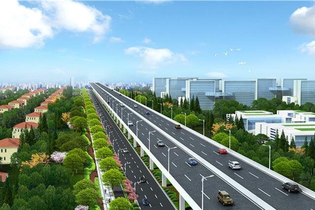 龙东大道新建高架路进入核心段冲刺 全线有望年内通车