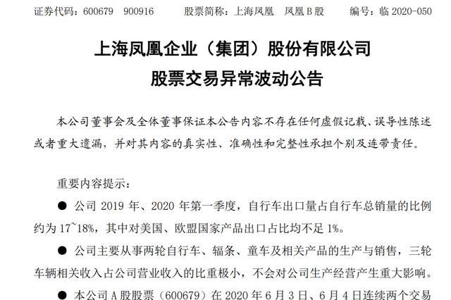 自行车遭疯抢和地摊经济引爆股价涨停 上海凤凰回应