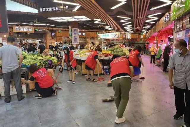 周浦集贸市场开展集中整治行动 回归整洁守护居民安全感