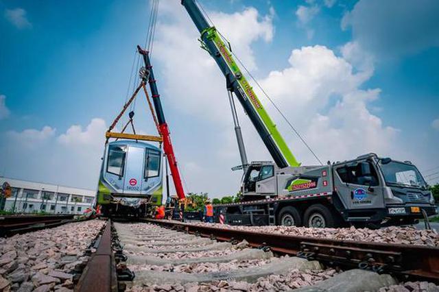 轨交14号线又有新车陆续抵达上海 9列已完成调试