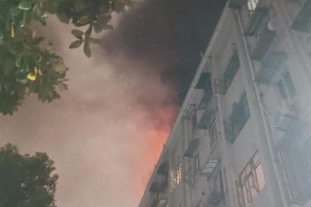 昨晚浦东寿一小区发生火灾 15辆消防车扑救无人伤亡