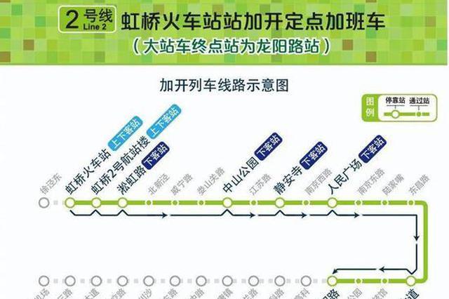 今晚2号线虹桥火车站再开加班车 末班车延至0时30分