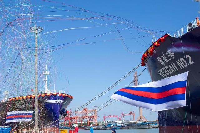江南造船两艘液化气船命名 年内第七艘系列船交付