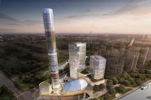 宝山又添新地标:长滩观光塔结构封顶 360度全角度观景