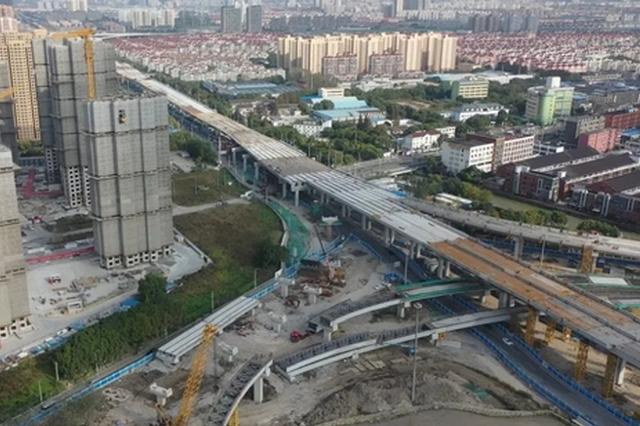济阳路快速化改建2标主线全线贯通 浦东往返浦西更方便