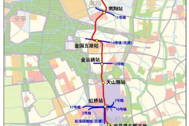 上海轨交嘉闵线城北路站-银都路站选线规划草案公