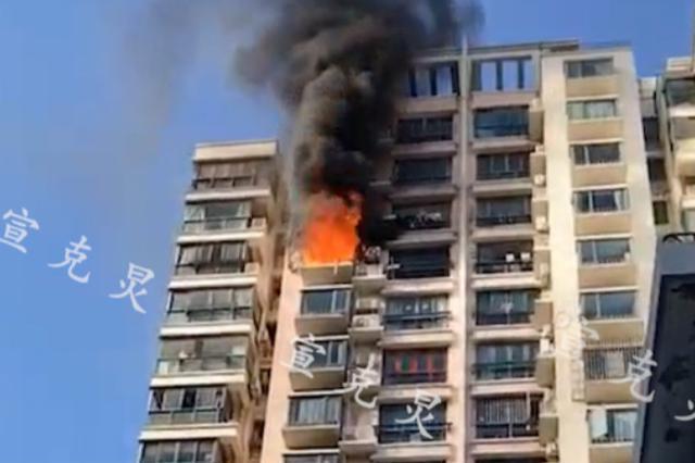 上海一高层民宅14楼起火:疑似纠纷引发矛盾 不排除人为