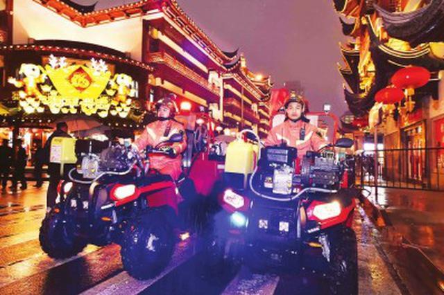 上海警方严防非法烟花爆竹流入 大年夜禁燃区域零燃放