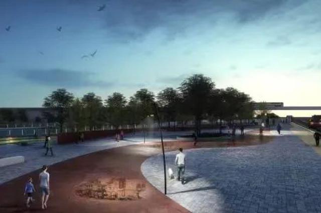 松江车墩一影视主题花园预计3月初竣工 占地面积4860㎡