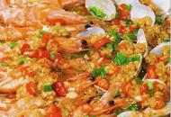 鲜虾花甲金针菇做法