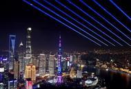 上海灯光璀璨迎进博