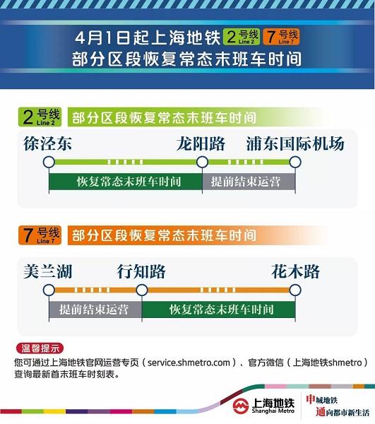 16号线全线和2、7号线部分区段明起恢复常态末班车开行