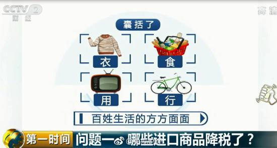 日用消费品关税下调 洗衣机等家电平均税率降低到8%
