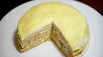 好吃的芒果千层蛋糕