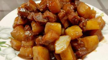 香嫩酥软的土豆红烧肉