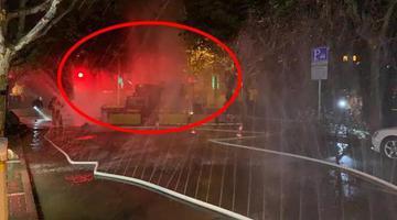 上海燃气泄漏4米气柱肉眼可见