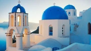 希腊圣托里尼的日出