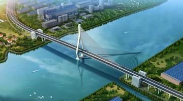 昆阳路越江大桥航拍