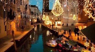 夕阳下的威尼斯