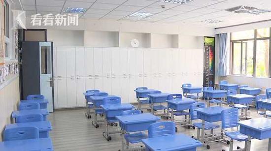上海开学日期确定学校做足防疫功课:课桌隔开一米