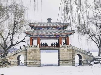 颐和园雪景美景如画