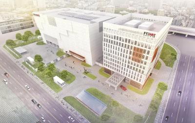 今年第四季度,上海国际艺术品保税服务中心即将在上海自贸区竣工投用。(效果图)