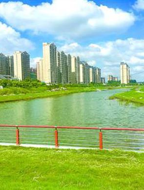 杨浦新江湾城又一新河开挖