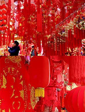 上海豫园喜庆年货迎新春