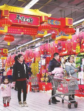 上海购物年味浓郁