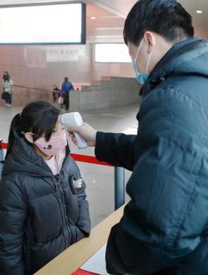 上海交通枢纽强旅客体温检测工作