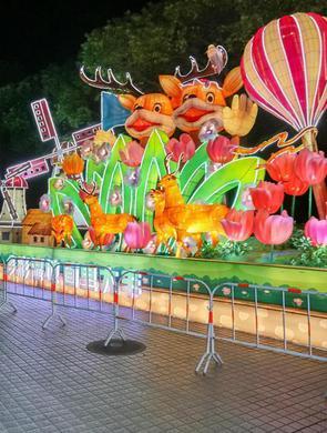 上海:彩灯照亮世纪公园
