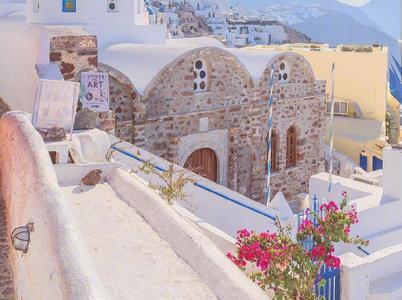 希腊圣托里尼 美得不像话